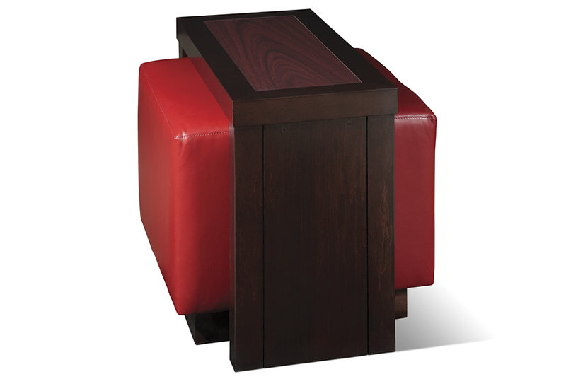 Side Table with Ottoman