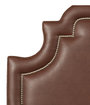 Leather-like vinyl upholstery.